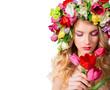 make up and femininity - fragrance of spring