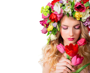 make up and femininity - fragrance of spring