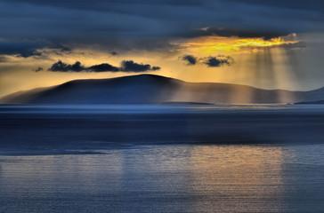 Sunset at Dingle bay.