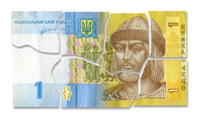 Financial crisis in Ukraine.  Broken money - Ukrainian hryvnia