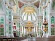 Leinwanddruck Bild - Interior of Mannheim Jesuit Church, Germany