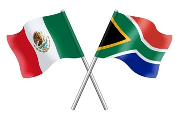 Flags: Mexico and South Africa