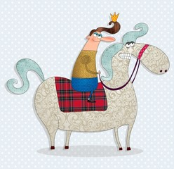 the prince on a white horse