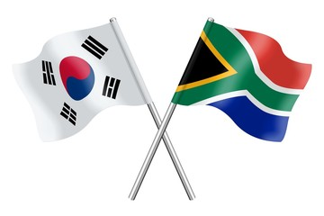 Flags: South Korea and South Africa