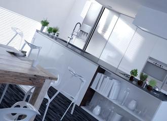 Moderne weiße Luxus Küche | Architektur Interieur / Interior