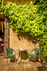 Picturesque house.Traditional architectural complex in Barcelona