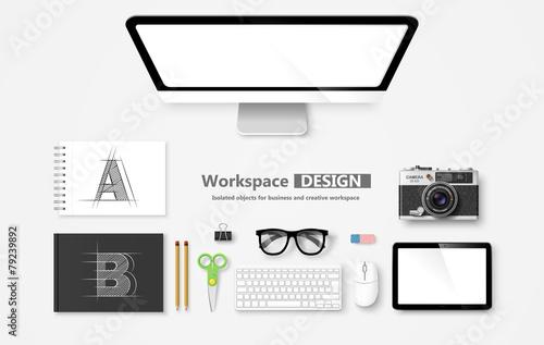 Workspace. Vector - 79239892