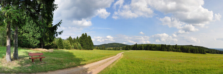 Wanderweg am Knüllfeld / Thüringer Wald