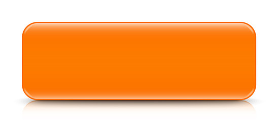 long orange button template with reflection