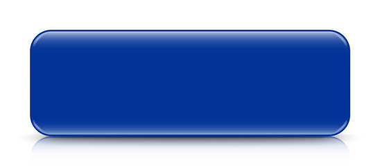 long blue button template with reflection