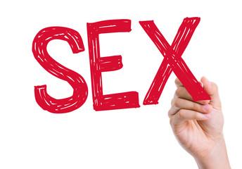Sex written on the wipe board