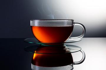 Teetasse mit dampf