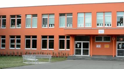 exterior primary school - cloudy