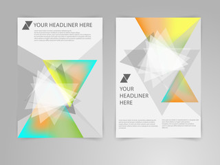 Abstract Triangle Brochure Flyer design vector template in A4