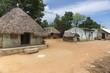 Leinwandbild Motiv KUmbakonam: Group of humble dwellings in village.