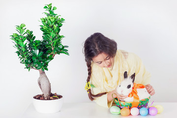 Soft Easter bunny and tree of life