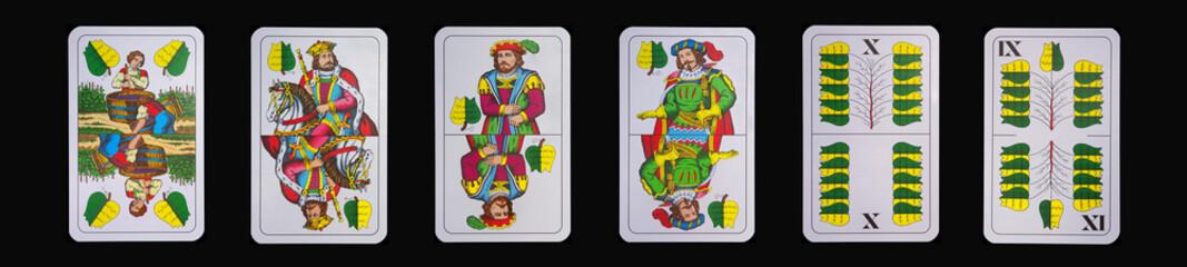 Spielkarten - Schnapskarten  GRÜN
