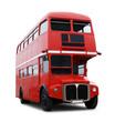 Leinwanddruck Bild - Londonbus