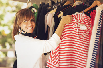 Woman Trying Clothes