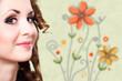 junge attraktive Frau mit aufwendigem Make-Up