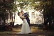 Leinwanddruck Bild - wedding dance the bride and groom at a wedding