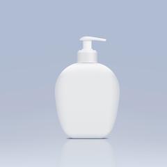 plastic bottle with a dispenser for liquid soap