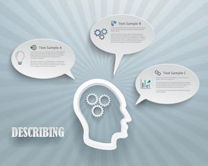 Describing Options Infographic Background