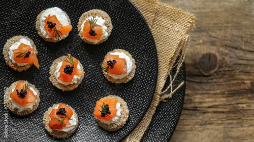 Papiers peints Poisson canapé saumon au carré frais 5