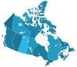 Canada regions map - 79248044