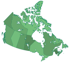 Canada borders map
