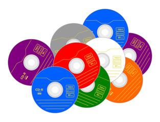 cd rom con etichetta