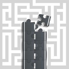 Bridge of puzzles through the maze