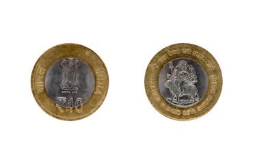 Ten Indian Rupee coin