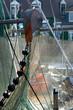 Leinwandbild Motiv Fischernetze im Hafen