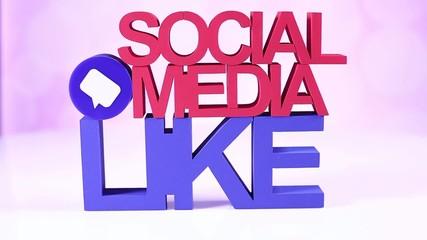 Social Media Concept, like