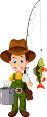 fisherman cartoon for you design