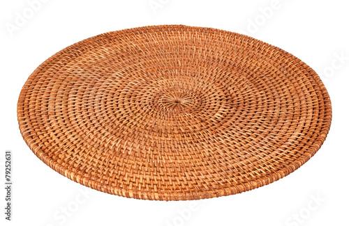 Papiers peints Table preparee Round Woven Place Mat