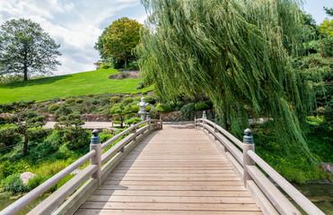 Chicago Botanic Garden, bridge to Japanese Garden area