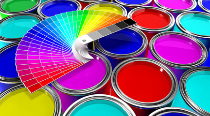 Color Paint and Color Cartela