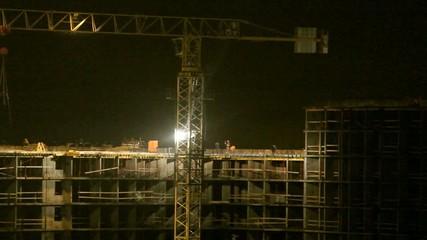 build at night
