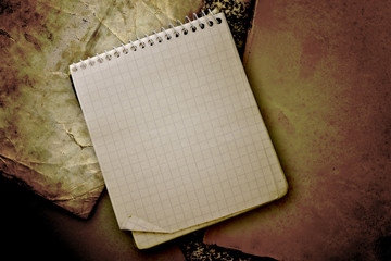 old used notebook
