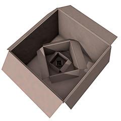 Lege doos in een verpakking -tegenvaller