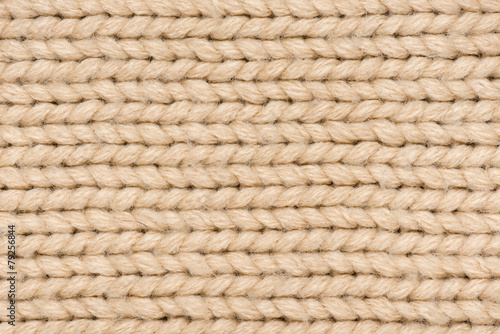 light brown knitted wool
