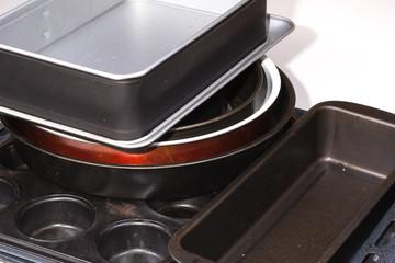 set of metal utensils