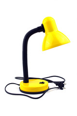 Yellow table lamp.