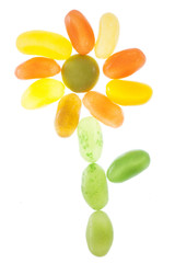 jelly bean sweets abstract