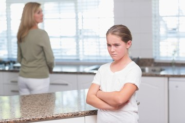 Mother and daughter after an argument
