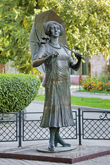 Monument to Faina Ranevskaya in Taganrog, Russia