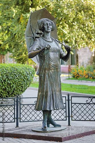 Leinwandbild Motiv Monument to Faina Ranevskaya in Taganrog, Russia