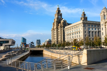 Liverpool Liver Building and seafront
